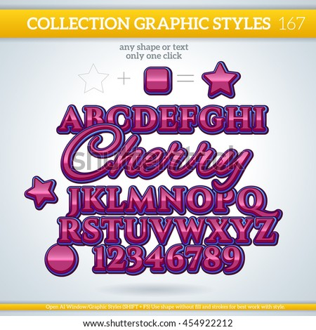 Cherry Wine Graphic Styles for Design. Graphic styles can be use for decor, text, title, cards, events, posters, icons, logo and other.