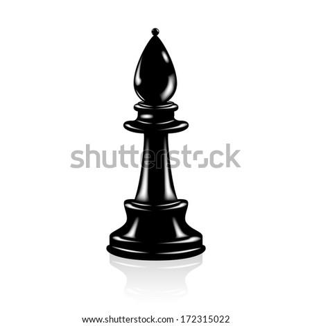 Chess Black officer - stock vector