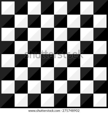 Chess board flat design style. Vector. - stock vector