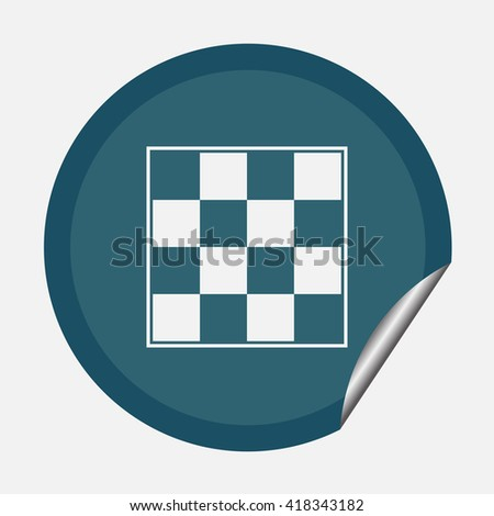 Chess board icon, vector illustration. Flat design style. - stock vector