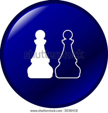 chess button - stock vector