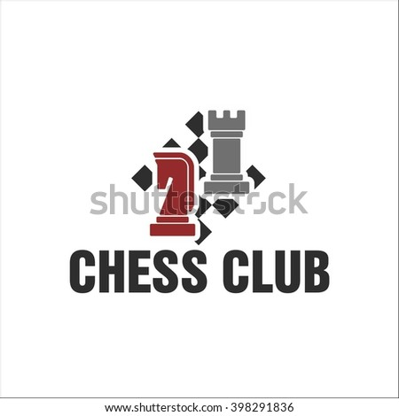 Chess club - stock vector