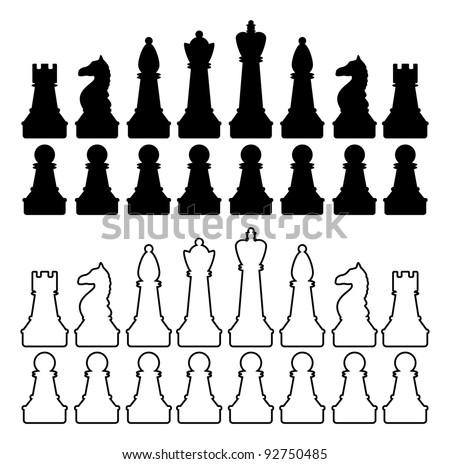 Chess figures - stock vector