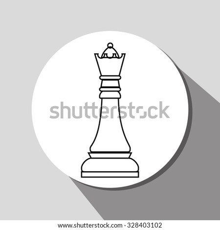 Chess game icon design, vector graphic eps10