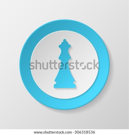 Chess icon. Queen concave icon. - stock vector