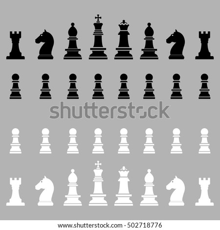 Chess icon set.