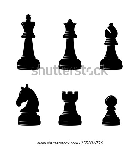 Chess icon. Set of Chess. Vector Illustration eps10 - stock vector