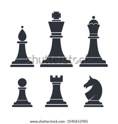 Chess Icon Vector Logo Template Stock Photo (Photo, Vector ...