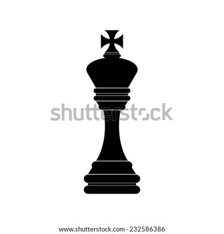 Chess king icon - Vector - stock vector