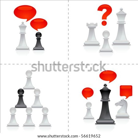 Chess metaphors - teamwork - stock vector