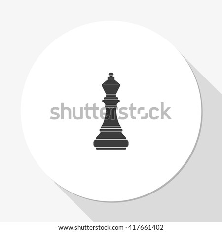 Chess officer icon. - stock vector
