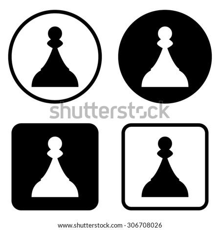 Chess Pawn - vector icon - stock vector