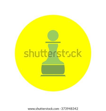 Chess Pawn vector icon - stock vector
