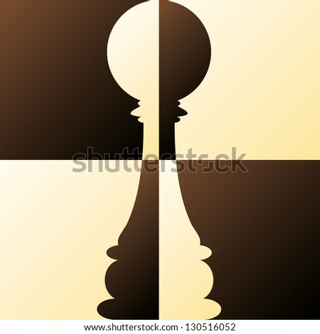 Chess Pawn. vector illustration - stock vector