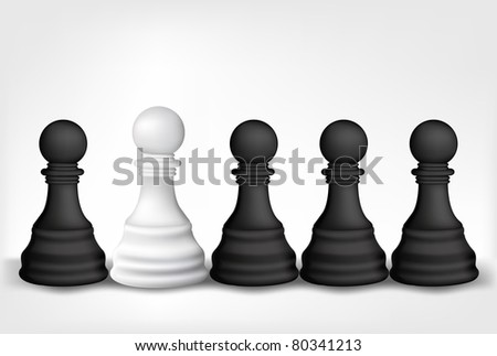 Chess Pawns - stock vector