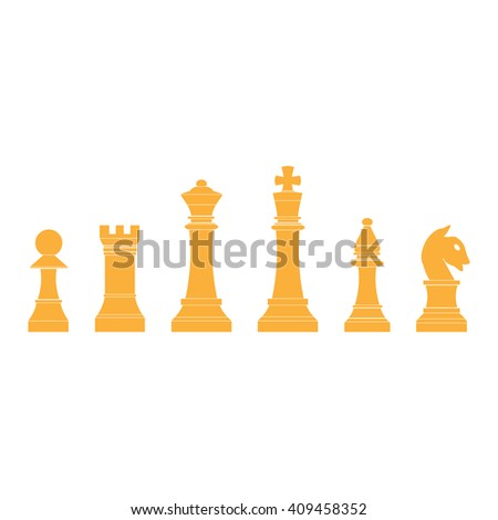 Chess pieces icons set. - stock vector