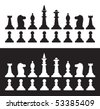 Chess pieces set - stock vector