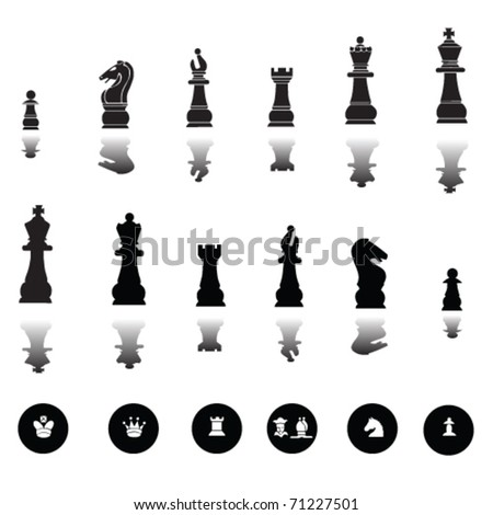 chess pieces vector - stock vector