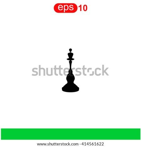 Chess queen icon. Chess queen icon vector. Chess queen icon illustration. Chess queen icon web. Chess queen icon Eps10. Chess queen icon image. Chess queen icon logo. Chess queen icon sign. - stock vector