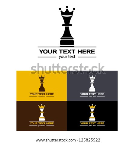chess queen set. vector illustration - stock vector