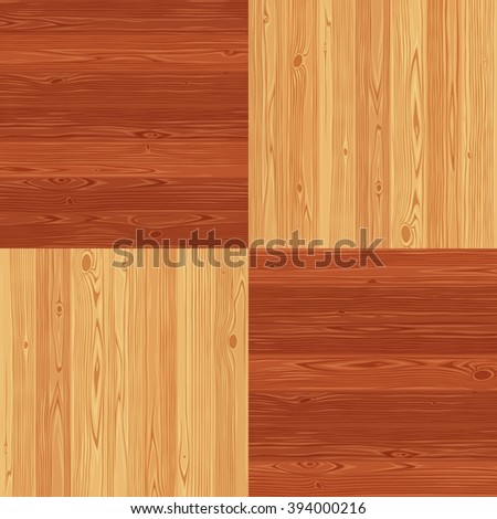 Chess square parquet seamless floor texture. Editable vector pattern in swatches. - stock vector