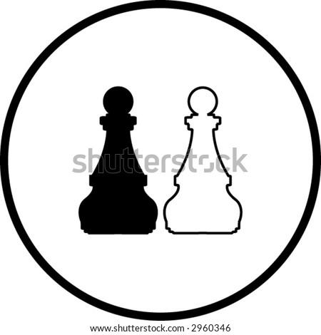 chess symbol - stock vector