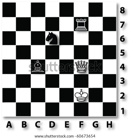 Chess table. Illustration of chess table. Vector chess table.