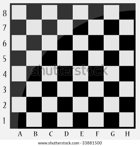 Chessboard with letters and numbers - stock vector