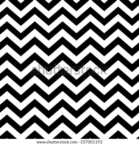 Chevron seamless pattern. Black and white - stock vector