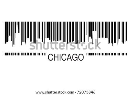 chicago barcode - stock vector