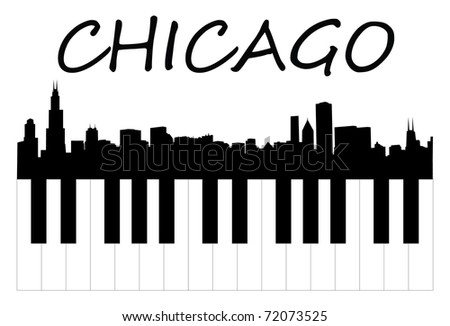 chicago music - stock vector