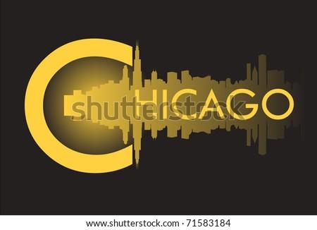Chicago v - stock vector