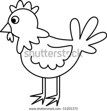 Chicken - stock vector