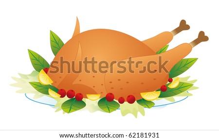 chicken - stock vector
