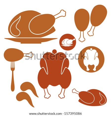 Chicken. Barbecue Grill - stock vector