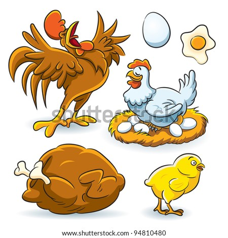Chicken Collection - stock vector