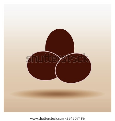 chicken egg icon, vector illustration - stock vector