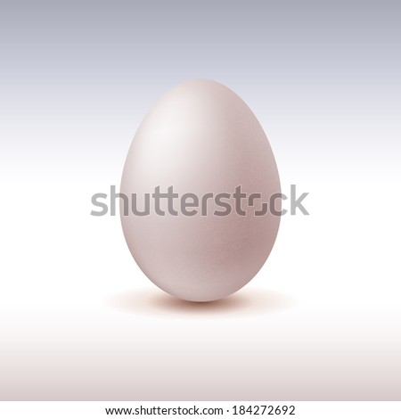 Chicken egg on light background, Easter card template