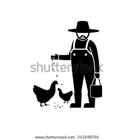 Chicken farm vector - stock vector