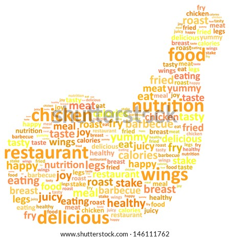 Chicken Leg Word Cloud Concept - stock vector