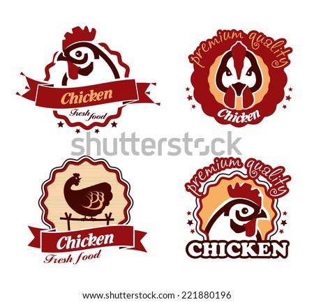 Chicken. Vector format - stock vector