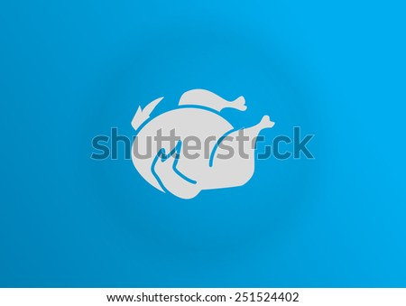 Chicken vector icon - stock vector