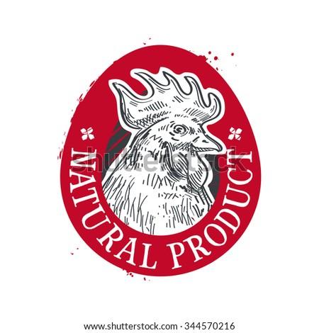 chicken vector logo design template. food or egg icon - stock vector