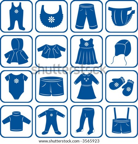 Child clothes set. - stock vector
