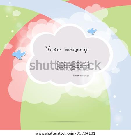 child cloud vector background - stock vector