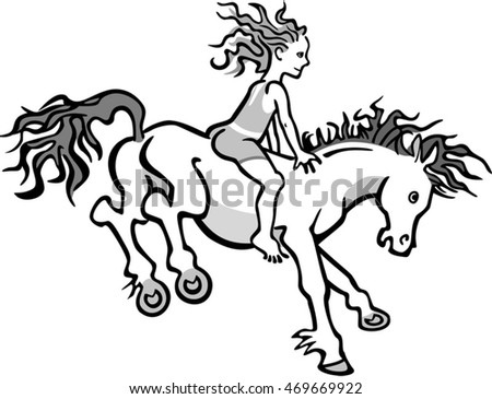 Child on a Jumping Horse