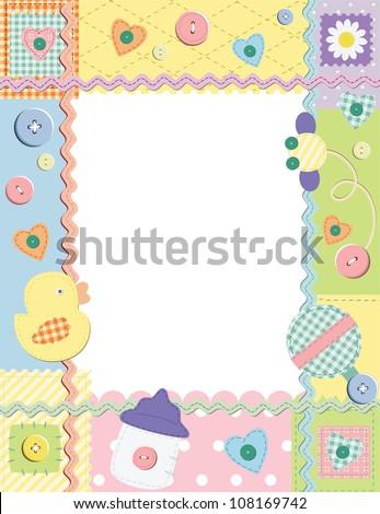 Child photo framework. Vector illustration - stock vector