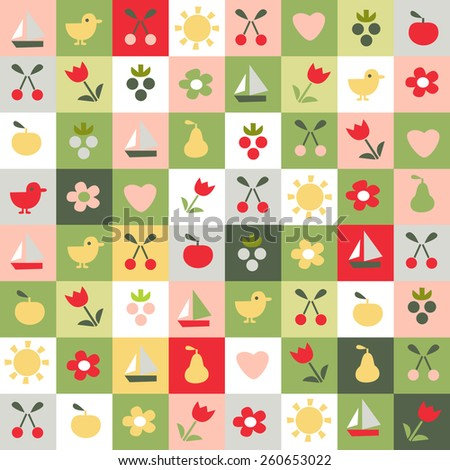 child's background cute - stock vector