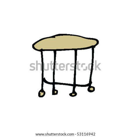 child's drawing of a table - stock vector