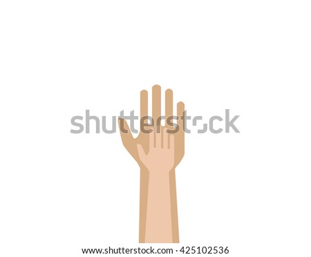 child's hand on a background of an adult hand, as a symbol of love and support. - stock vector